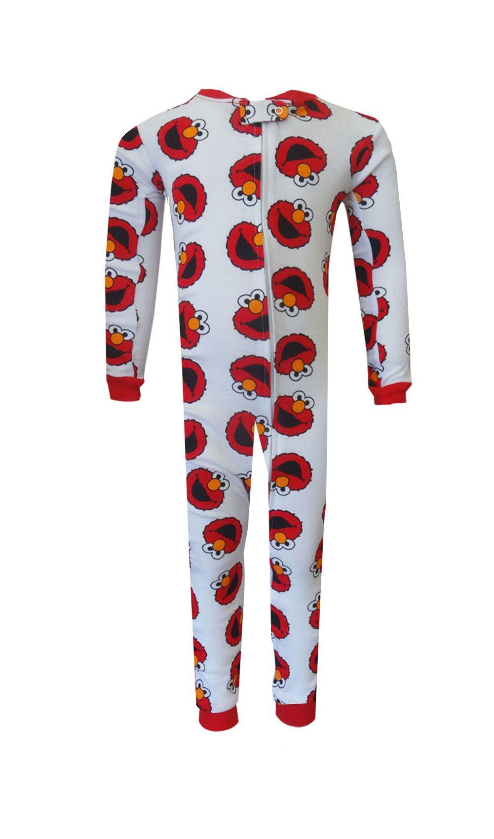Sesame Street Elmo Cotton Toddler Onesie Pajamas Cotton
