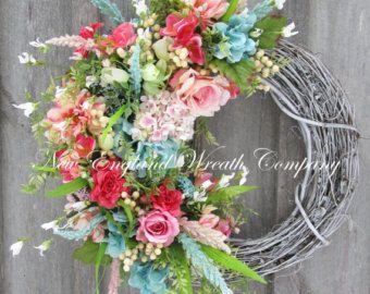 St Patricks Day Wreath, Elegant St Pats Day Wreath, Spring Floral Wreath, Easter Wreath, Wedding Wreath, Designer Wreath, Spring Wreath  Elegant