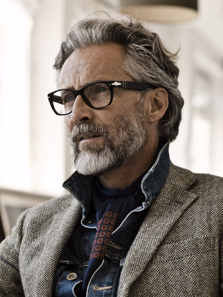 Ben Desombre Represented By Vision Models La Older Mens Hairstyles Grey Hair Men Mens Hairstyles