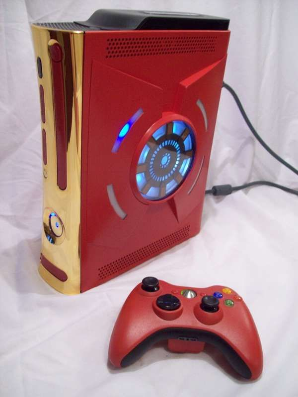 Tony Stark's Ironman Xbox 360 Console is One of a Kind trendhunter.com