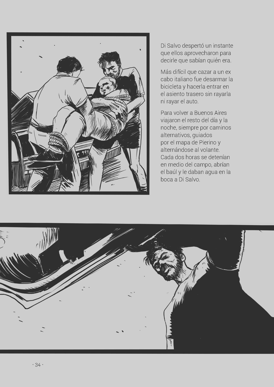 Caza Mayor de Javier Chiabrando ilustrado por Nicolás Brondo. Página 34. #eduvimilustrados