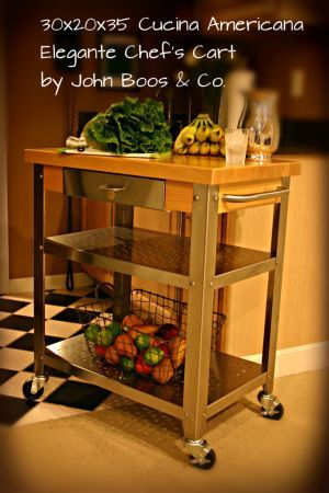 739 John Boos 30x20 Kitchen Island Chef S Cart W Maple Butcher