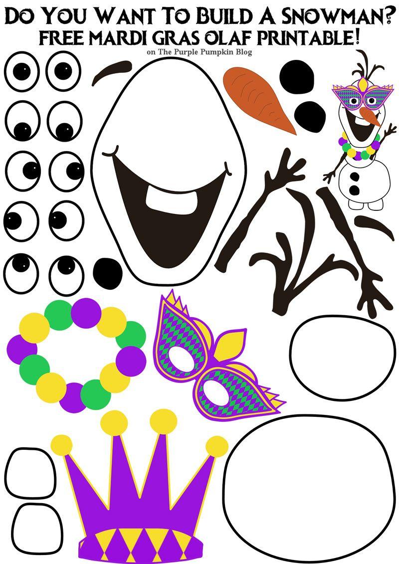 Do You Want To Build A Snowman? Mardi Gras Olaf Edition   Carnavales ...