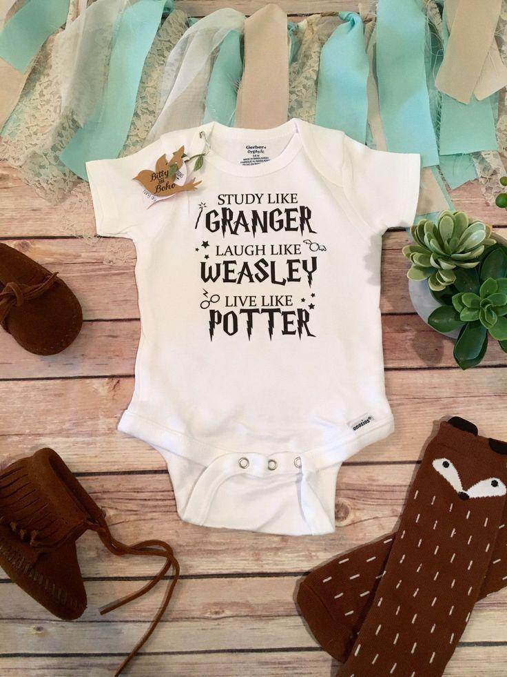 Harry Potter Baby Onesie® (oder T-Shirt) Harry Potter Baby Onesie® oder T-Shirt, Unisex-Stil ist ideal für einen Jungen (oder Mädchen) mit Study like Granger, Lau ... - #harry #onesie #potter #shirt - #New #babykidclothesandideas