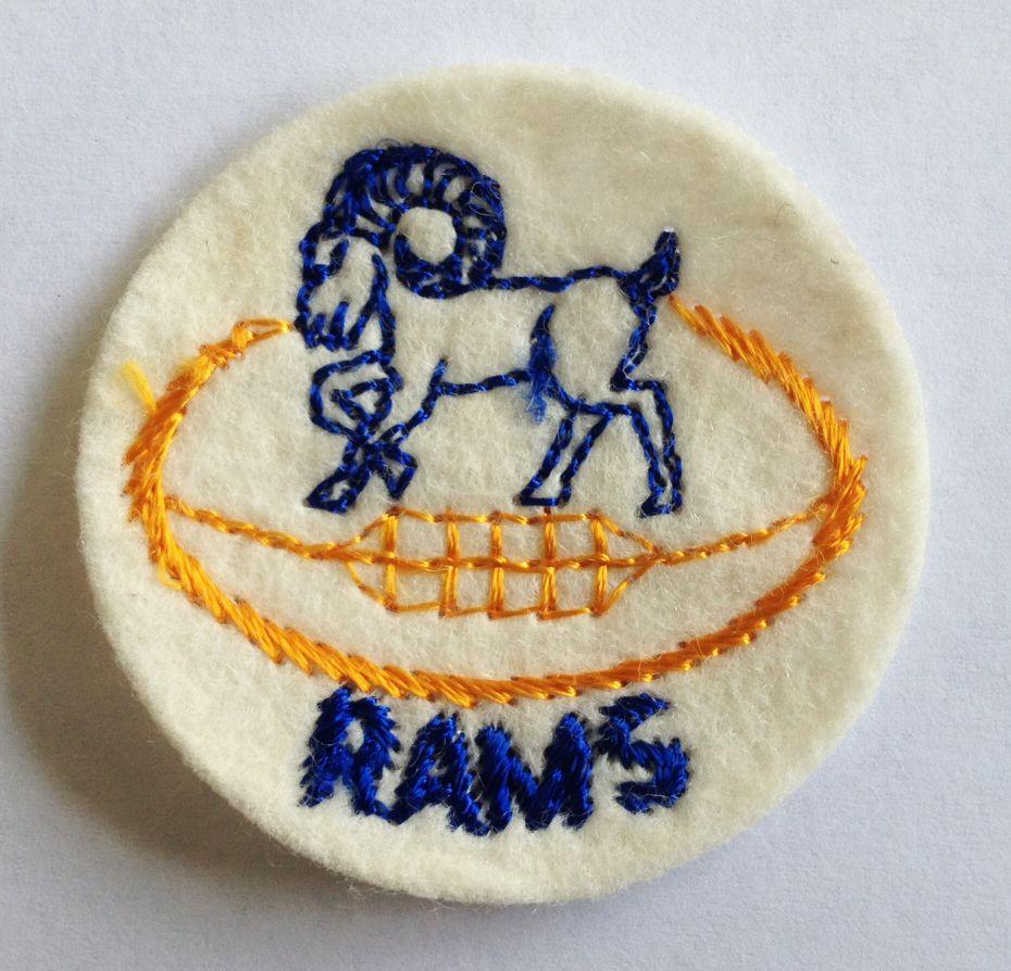 La Rams Vintage Patch Vintage Patches La Rams Rams Football