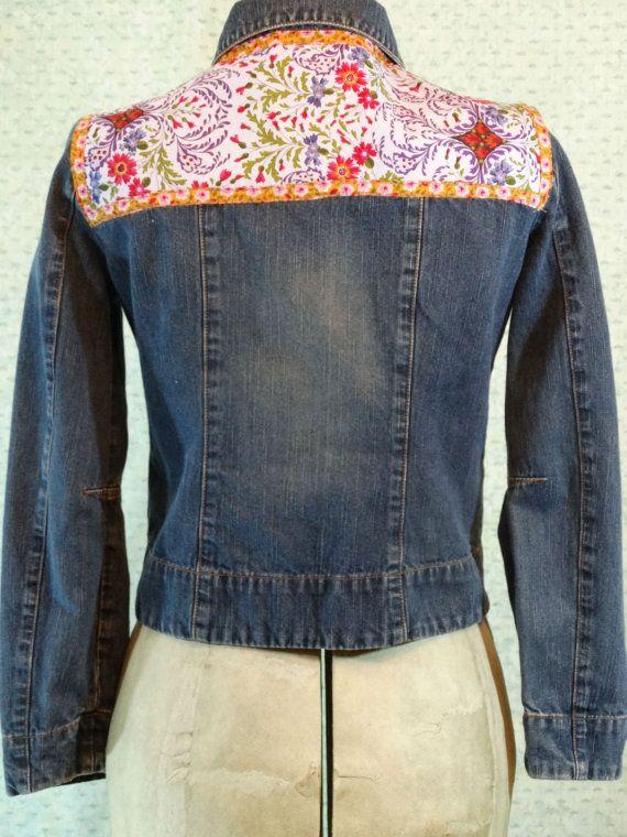 Upcycled Clothing Funky Eco Denim Jacket Artsy Jean Jacket
