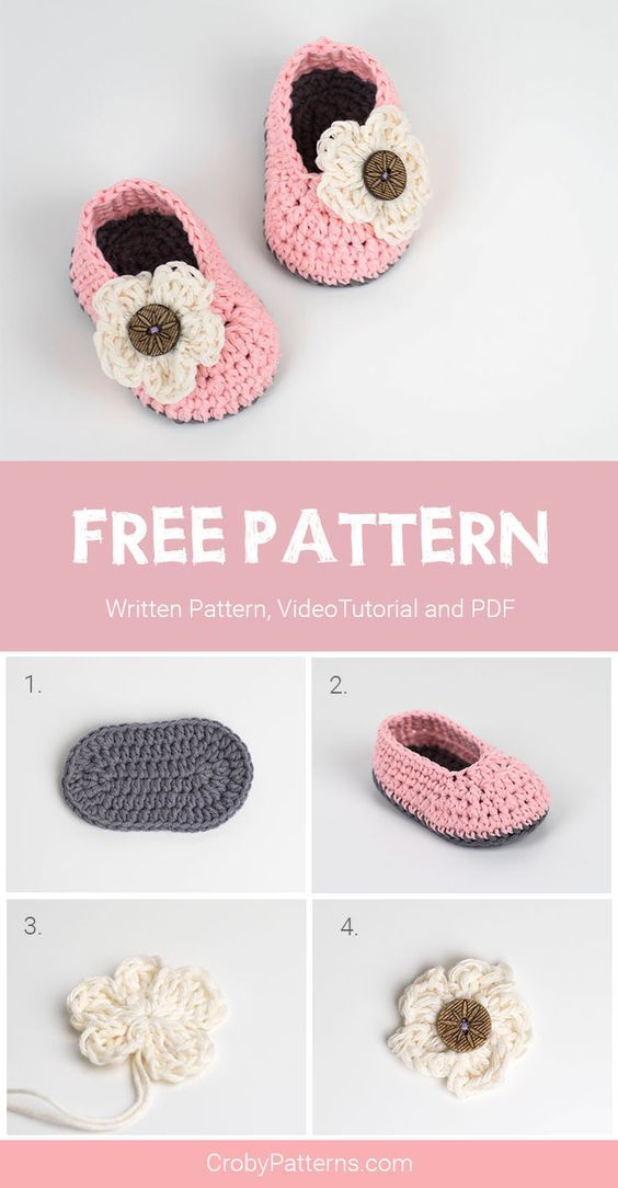 FREE Crochet Pattern for Baby Booties For Little Girls | Tejido ...