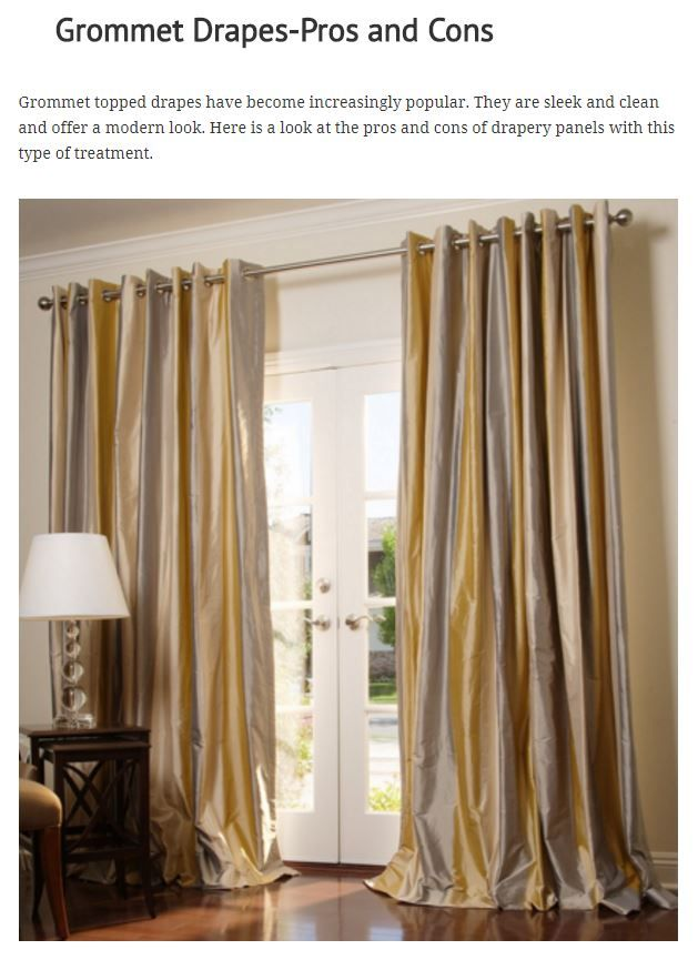 Grommet Drapes Pros And Cons Drapes Grommet Drapestyle Drapery