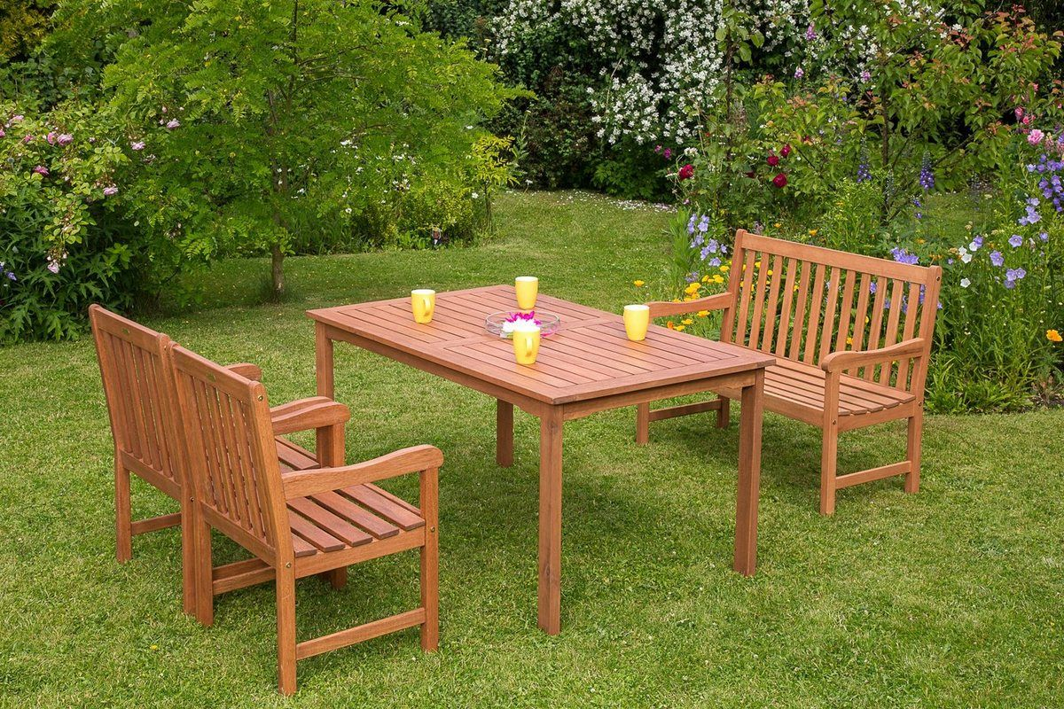 Merxx Gartenmobelset Santos 5 Tlg 2 Sessel 2er Bank Tisch