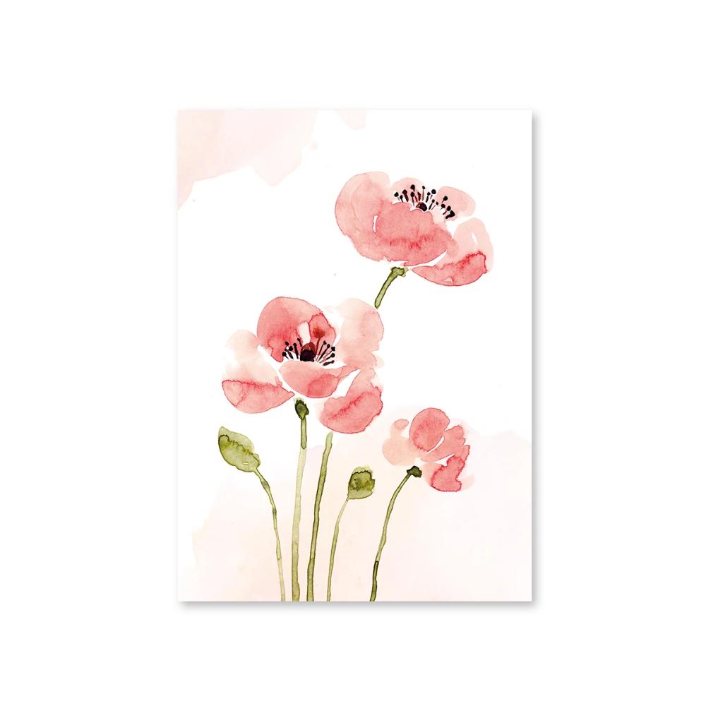 Postkarte Mohnblumen May Berry Valentinstag Basteln Kinder Postkarten Valentinstag Basteln