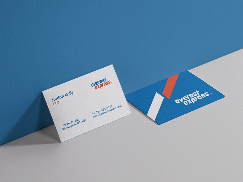 Business Card Design L Everest Express Courier Co L Branding Business Card Branding Business Card Graphic Card Design