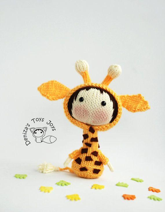 Small Giraffe Doll - pdf knitting pattern. Tanoshi series toy ...