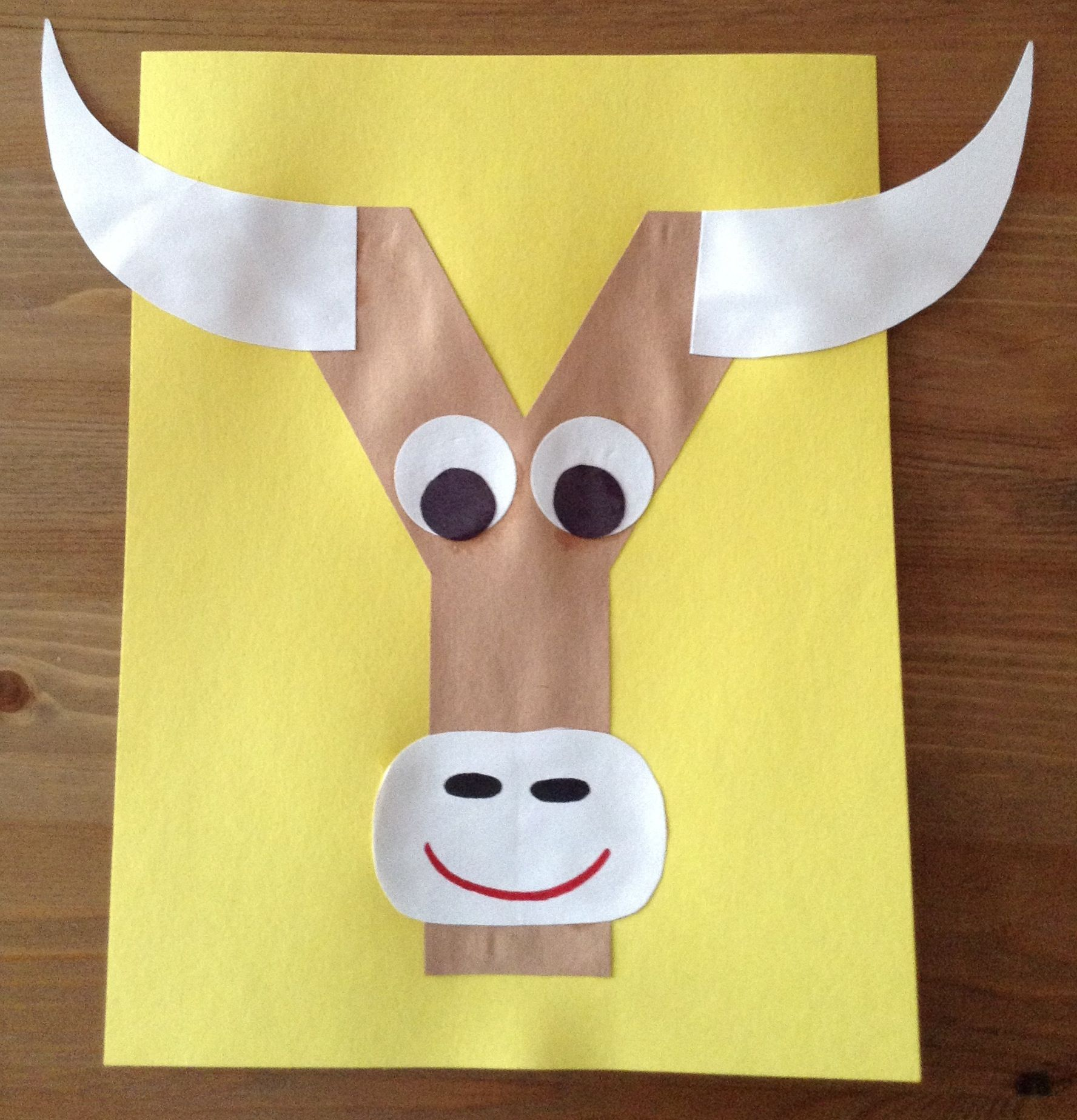 Animals crafts for preschoolers - Y Is For Yak Craft Preschool Craft Letter Of The Week Craft Kids
