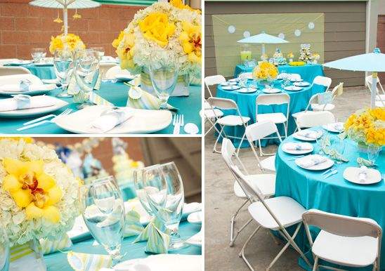 Turquoise Baby Shower | Yellow And Turquoise Elephant Baby Shower   On To  Baby