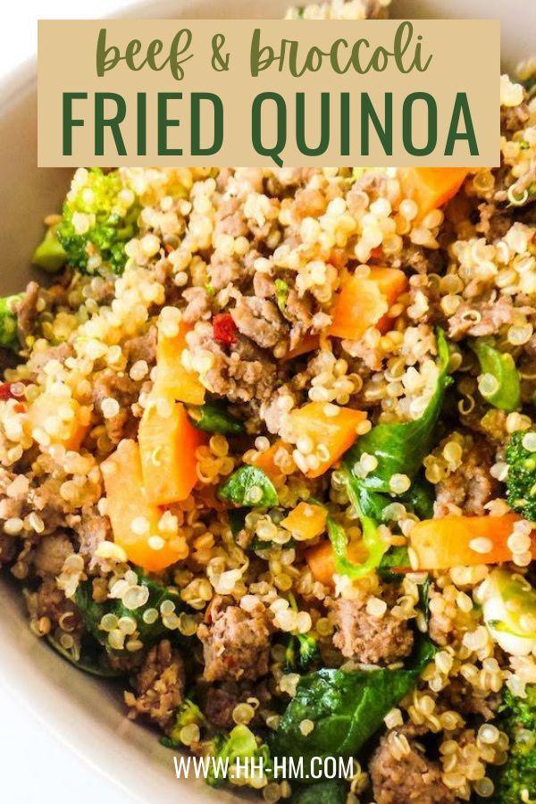 Healthy Ground Beef And Broccoli Fried Quinoa Reci