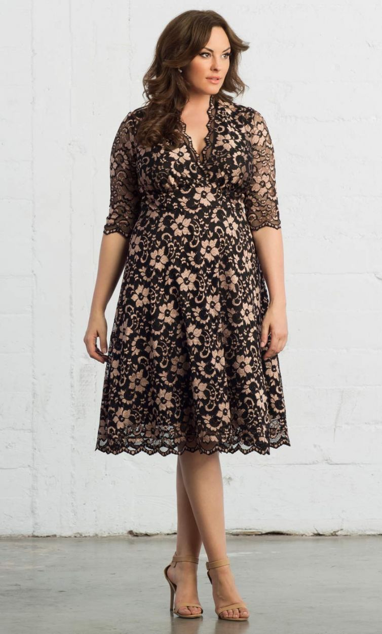 590f85619 Mademoiselle Lace Dress, Rose Gold/Onyx (Women's Plus Size) | My Style