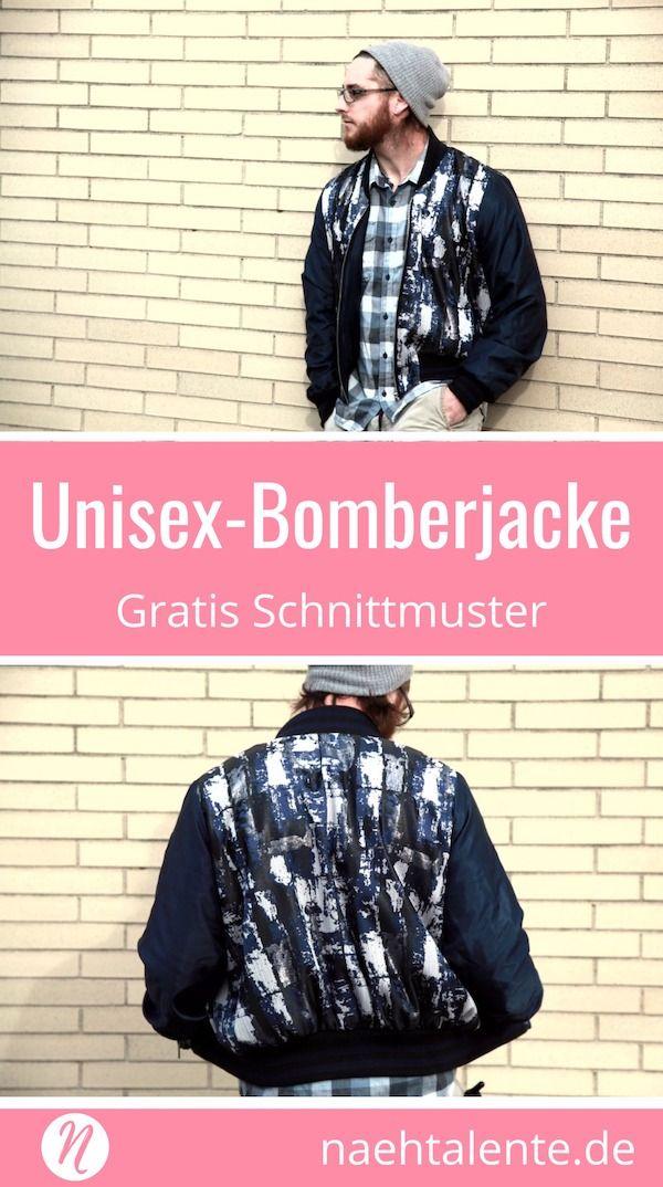 Bomberjacke - Unisex Schnittmuster für Sie und Ihn | Pinterest ...