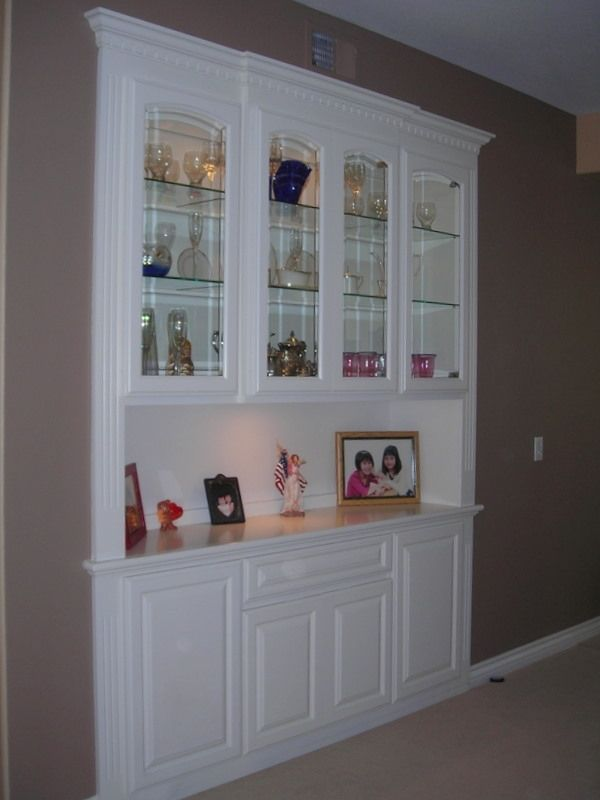 Built In China Cabinet Custom Made A Built In China Closet Dining Room Cabinet Recessed Cabinet Built In Buffet