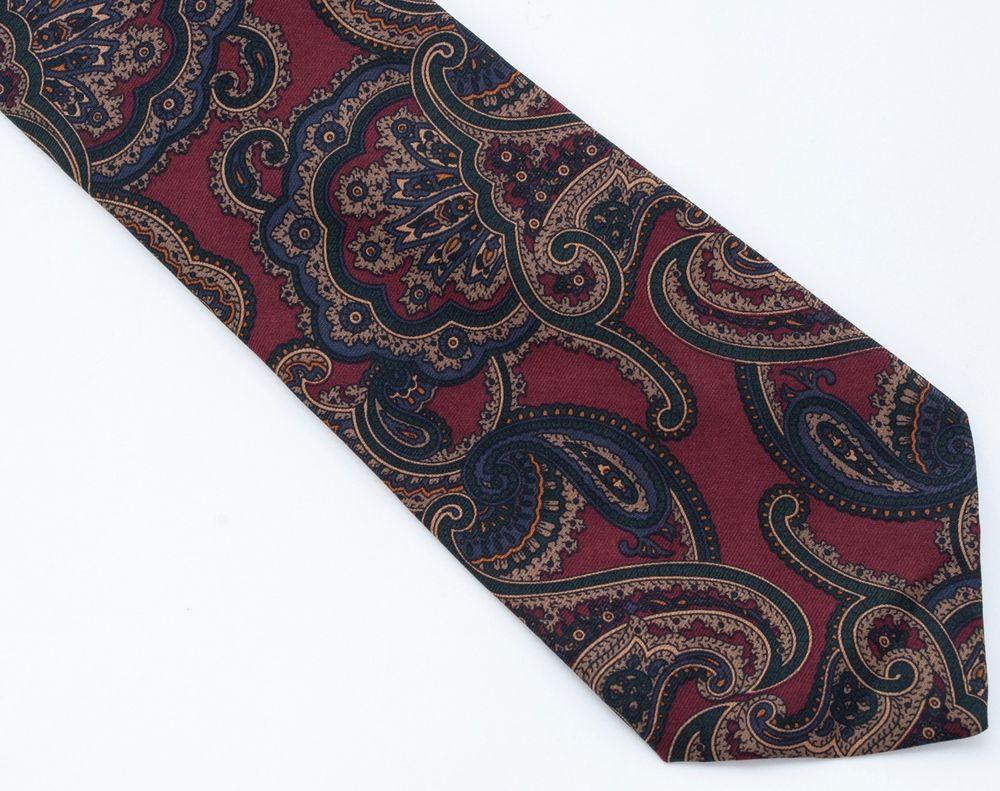 Brooks Brothers 100% Silk Paisley Geometric Tie Necktie Floral Mens Made USA Vtg #BrooksBrothers #NeckTie