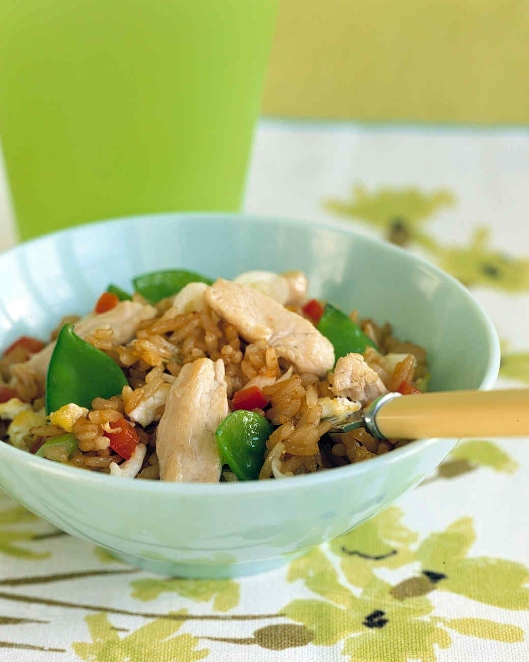 Chunks of chicken breast make this Chinese favorite a satisfying main dish; snow peas add crunch and vitamin C.