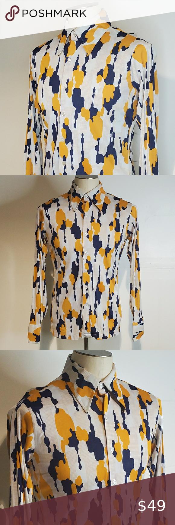 Original Vintage Long Sleeve Disco Shirt Mr. Sport
