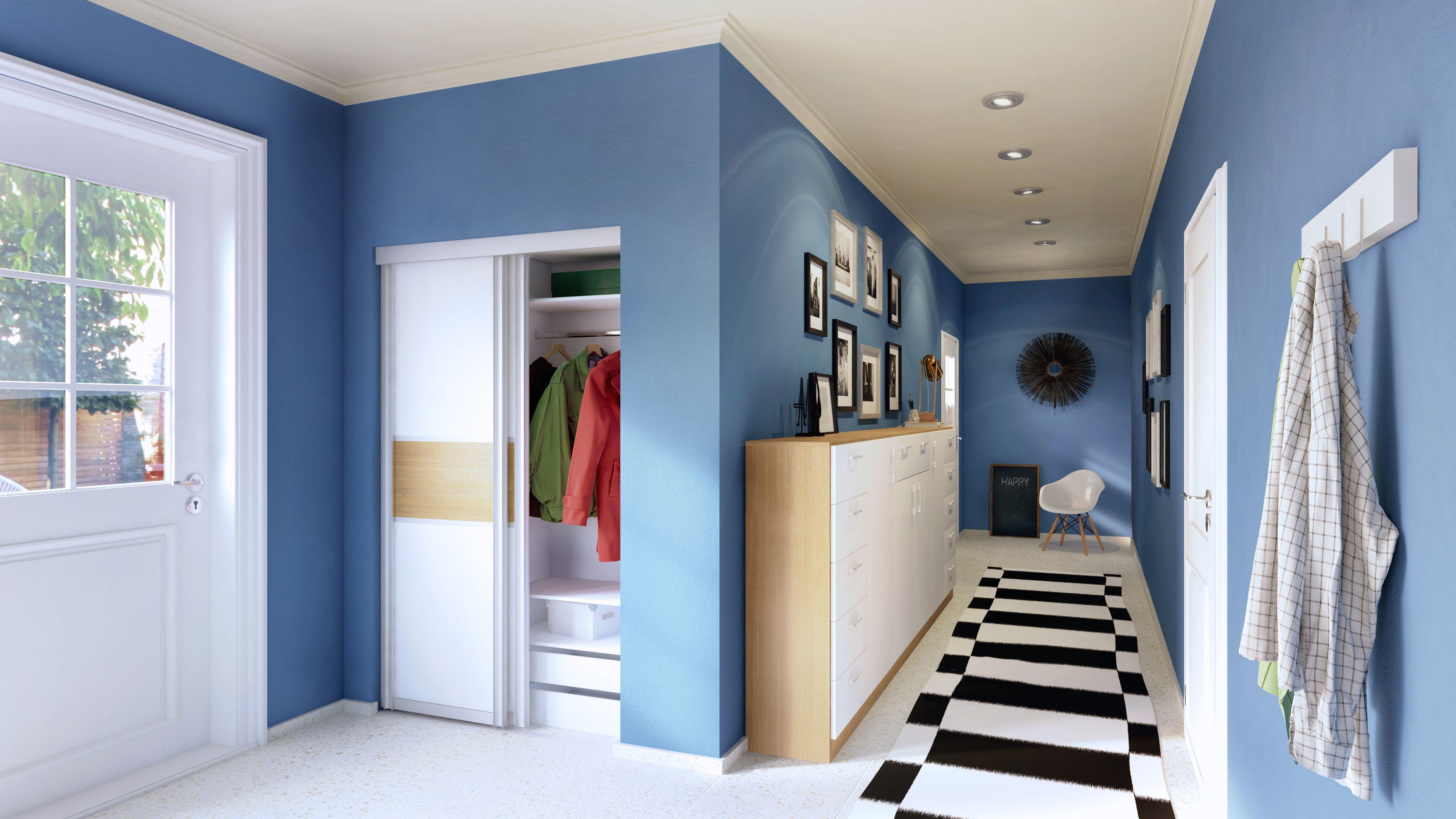 ein langer schmaler flur kann besonders gut mit einer. Black Bedroom Furniture Sets. Home Design Ideas