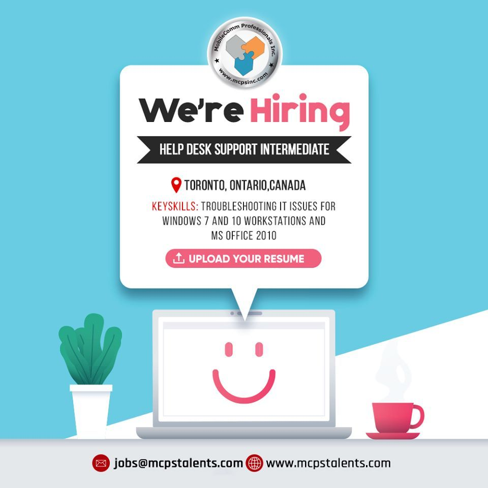 Job for help desk support intermediate in 2020 business
