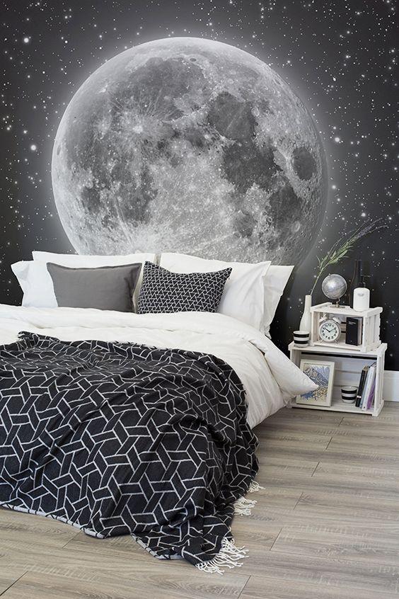 Moon And Stars Wallpaper Wall Mural Muralswallpaper Co Uk Casper