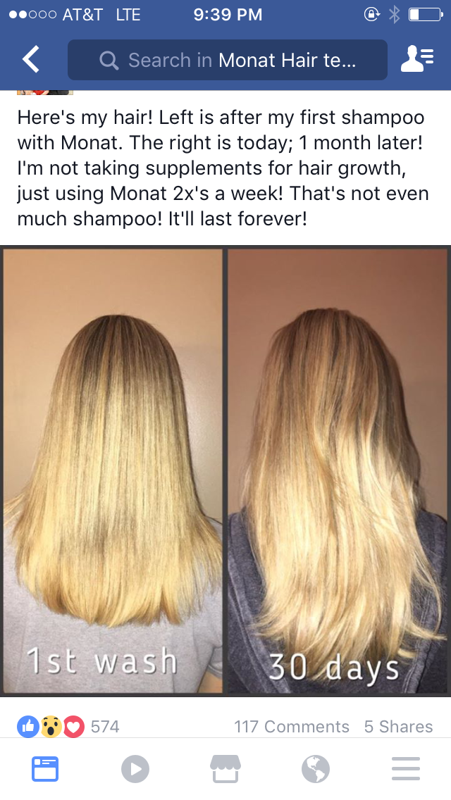Using Monat just twice a week can increase your hair