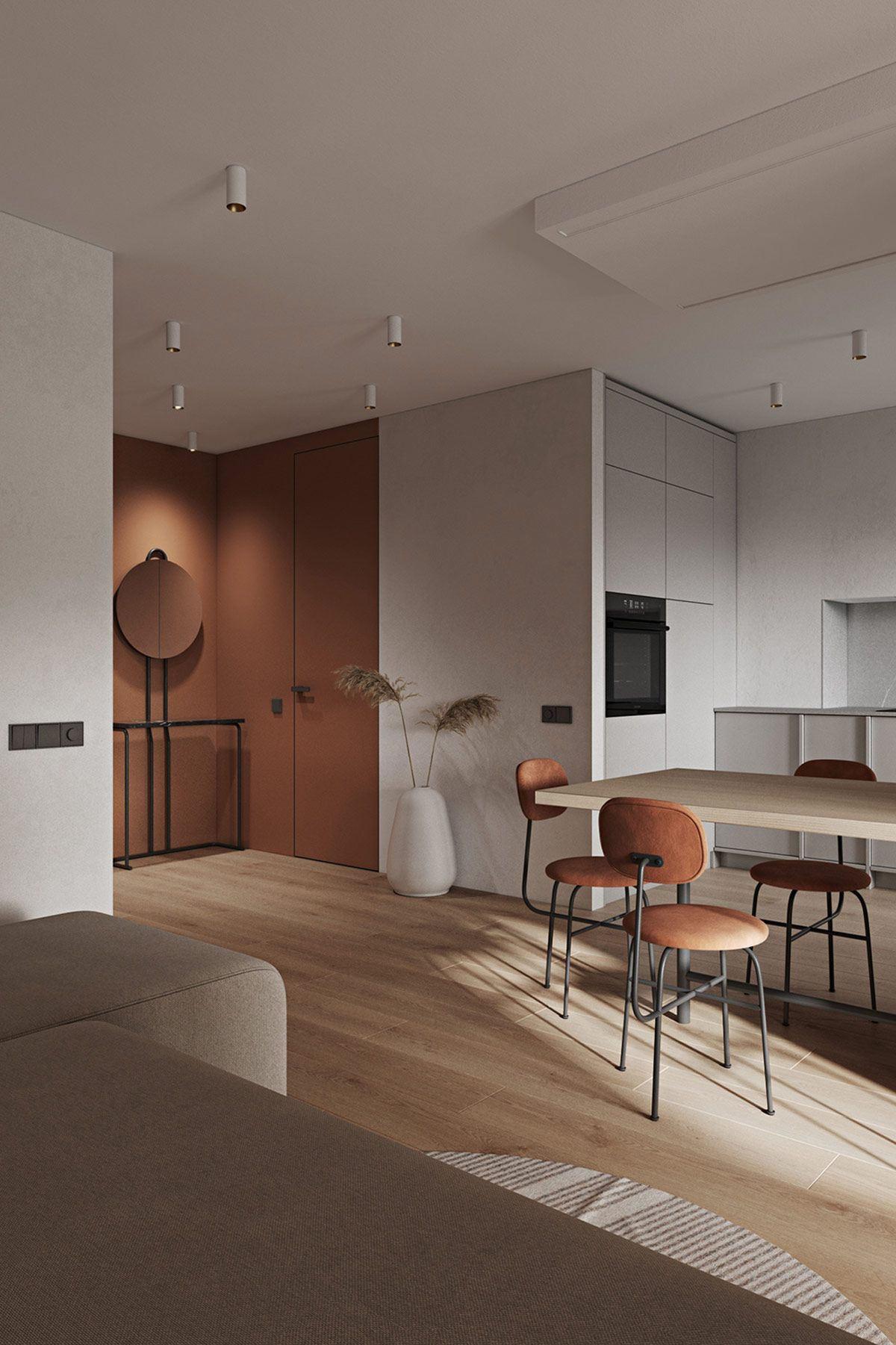 Introducing Depth, Warmth & Interesting Furniture Into Flat Spaces