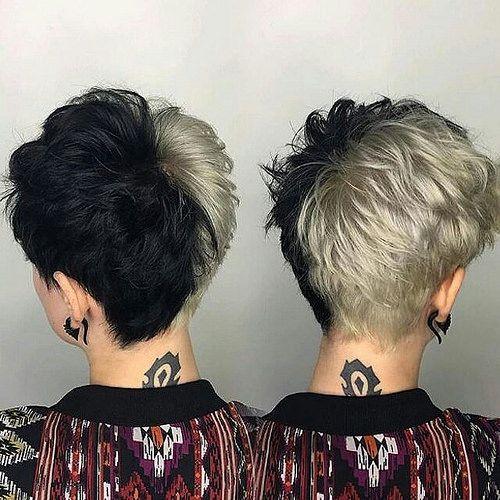 Hashtagpixiecuts Dyed Hair Men Short Hair Styles Split Dyed Hair