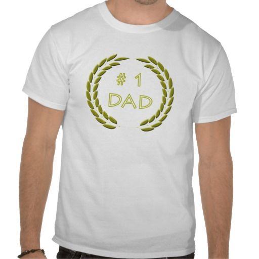 Golden Number 1 Dad T-Shirt