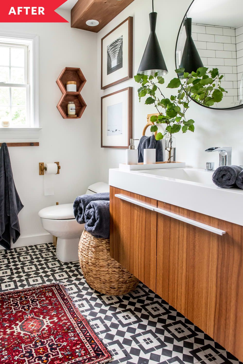Before And After: An 'Old And Messy' Bathroom Becomes A