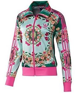 Adidas Originals Floral Teal Jacket | Chaqueta adidas mujer ...