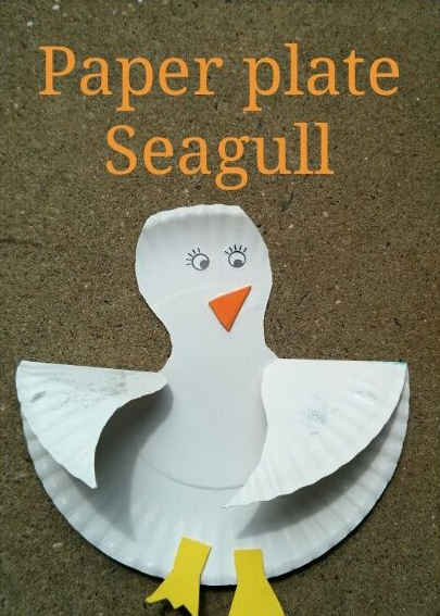 Preschool Summer Bird Craft Paper Plate Seagull - Home - Easy Fun \u0026 Free Things to Do With Kids - kids can add feathers etc. & 3 Great Paper Crafts To Make In Summer Camp | Printable Paper ...