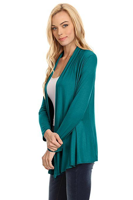 5d2b8675c7 Womens Open Drape Cardigan Reg and Plus Size Cardigan Sweater Long Sleeves  - USA at Amazon Women s Clothing store
