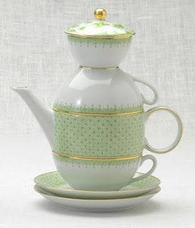 Tea for Two in Apple Lace