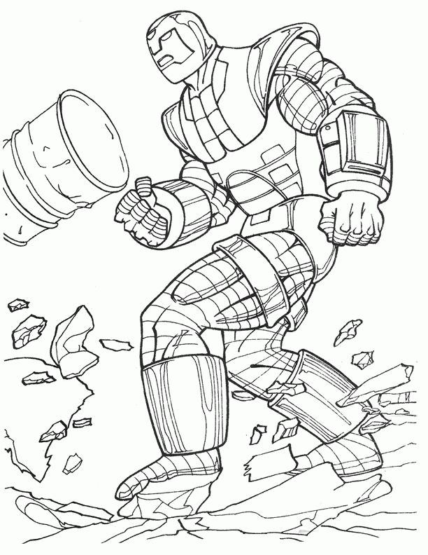 Iron Man Coloring pages for kids. Printable. Online Coloring. 17 ...