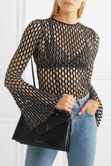 Phoebe Leather Shoulder Bag - Black Danse Lente LVg2X8MO