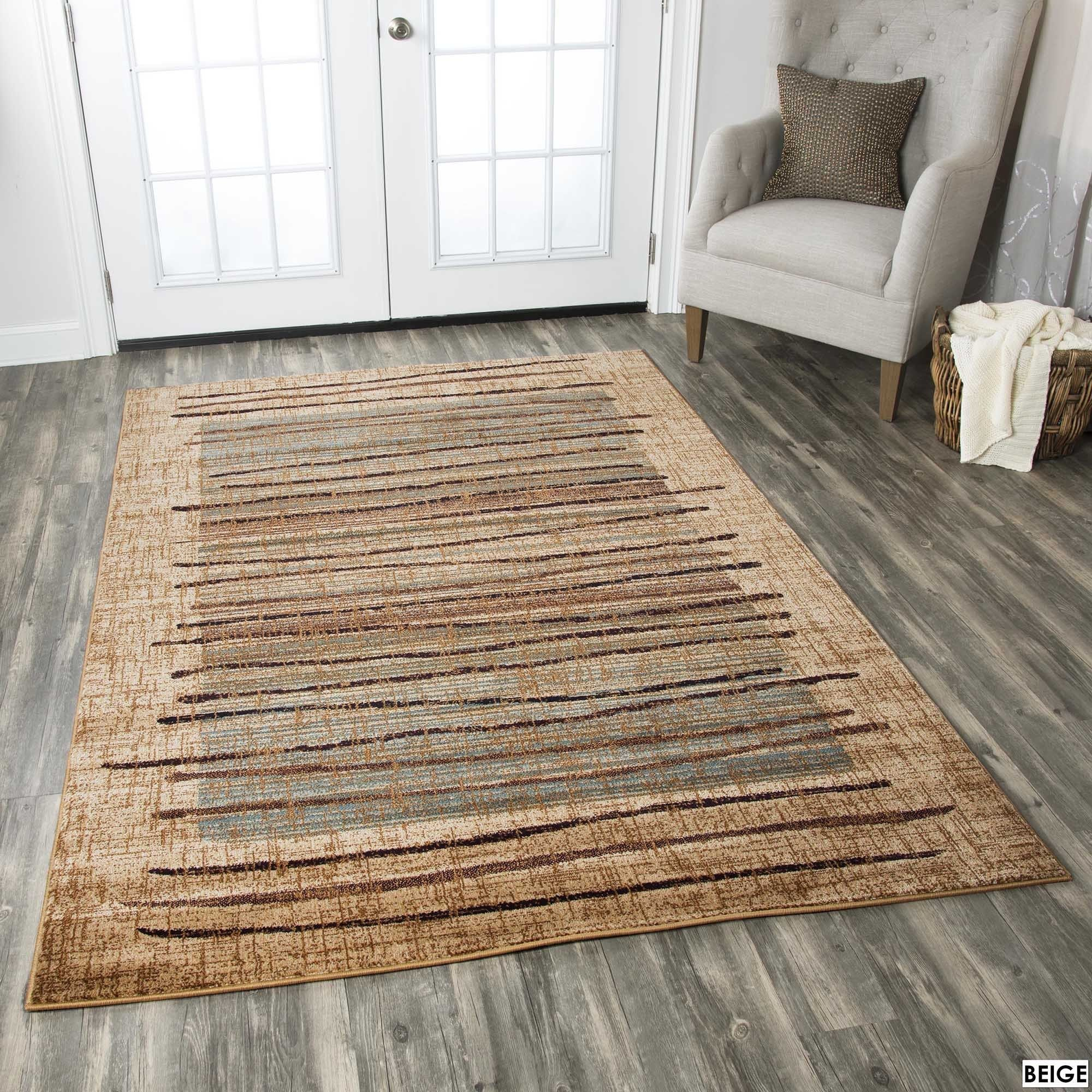 Rizzy Home Stripe Beige Bellevue Collection Accent Rug 9 10 X 12 6 9 2 X 12 6 Beige Area Rugs Rugs Beige Area Rugs