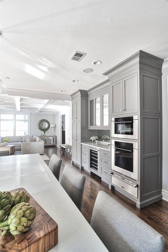 Grey kitchen design home bunch interior ideas kitcheninterior also rh pinterest
