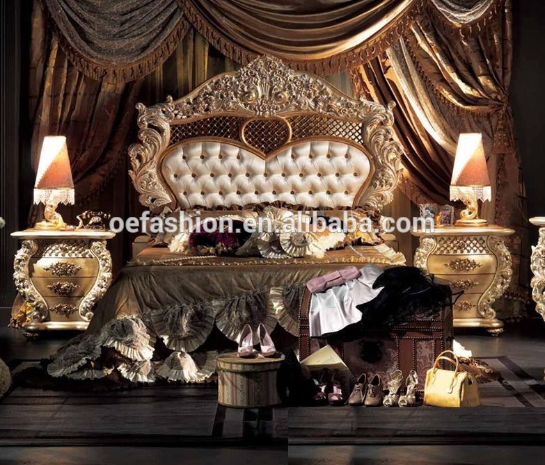 Italy luxury royal furniture antique bedroom sets,king size bed