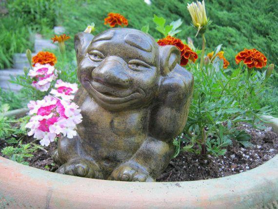 Troll Statue   Concrete Garden Art