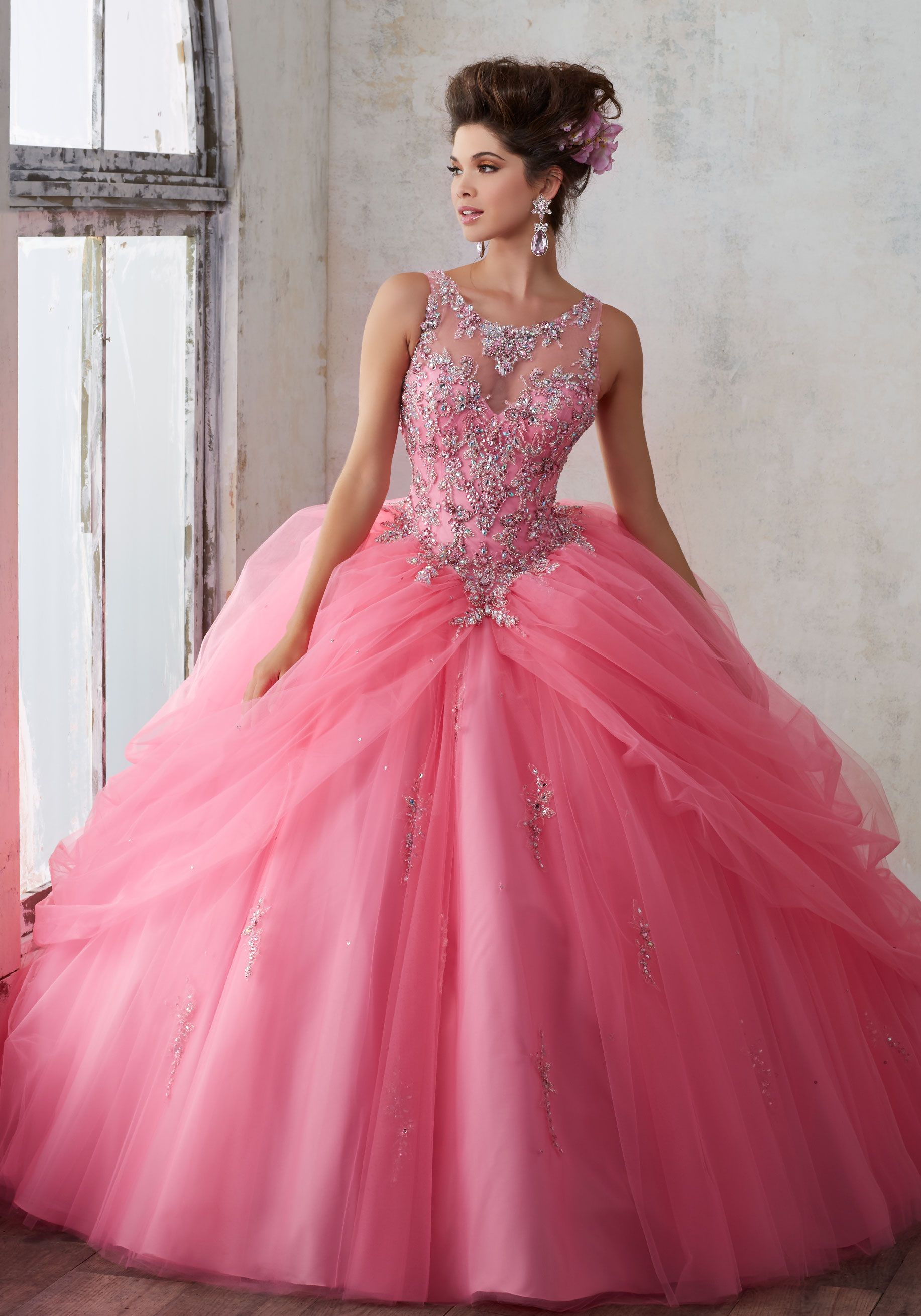 37bb5d2dfa0 Jeweled Beading on a Princess Tulle Ballgown