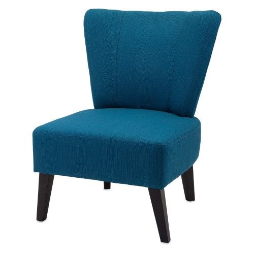 Best Imax Berkley Armless Accent Chair Blue Armless Accent 640 x 480