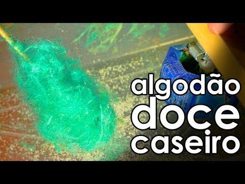 Maquina De Algodao Doce Caseiro Homemade Cotton Candy Machine