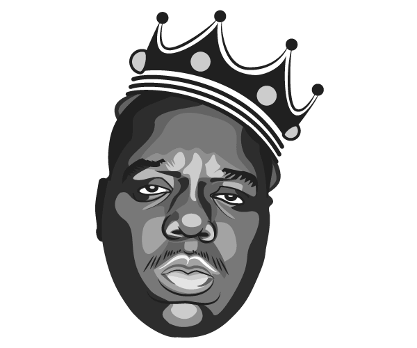 Notorious Big Vector Image Biggie Smalls Art Hip Hop Art Notorious Big Tattoo