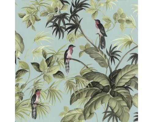 Vliestapete Vögel grün blau bei HORNBACH kaufen Blauw