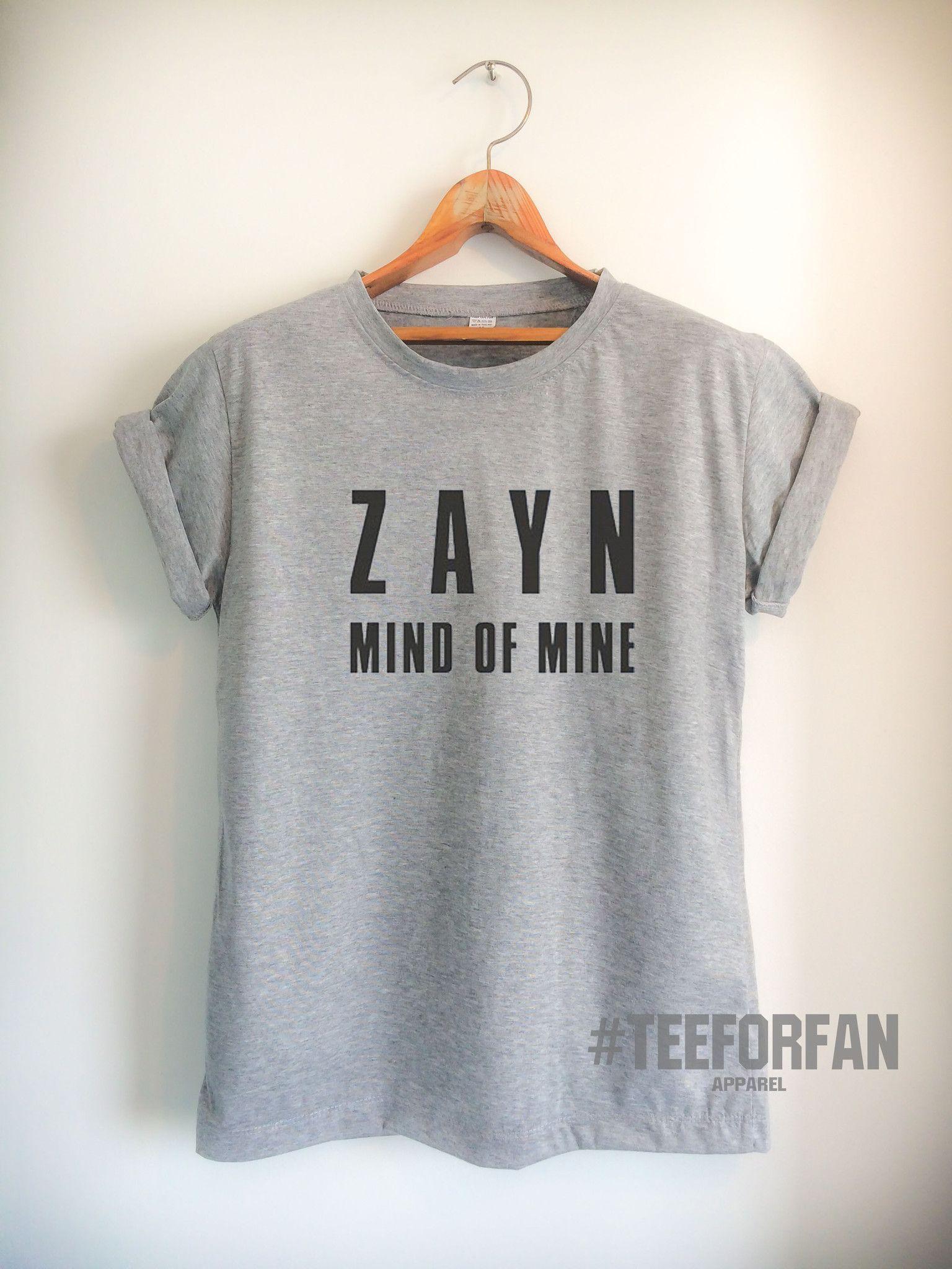 3dde47f4 Zayn Malik Shirt Mind of Mine T Shirt Zayn Malik Merch Clothing Top ...