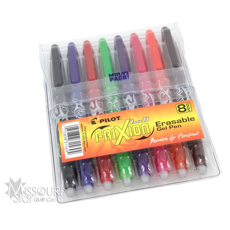 FriXion Pens - Assorted Package of 8 from Missouri Star Quilt Co ... : frixion erasable pen for quilting - Adamdwight.com
